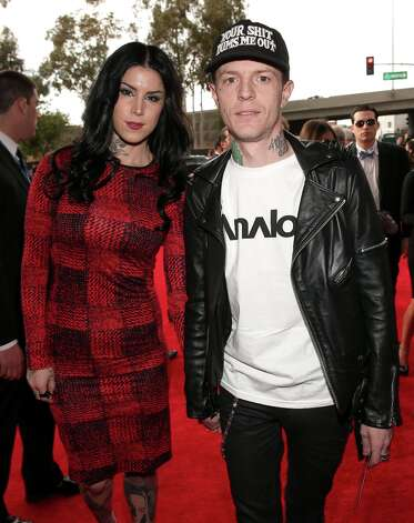 TV personality Kat Von D (L) and Deadmau5 attend the 55th Annual GRAMMY Awards at STAPLES Center on February 10, 2013 in Los Angeles, California. Photo: Christopher Polk, Getty Images For NARAS / 2013 Getty Images