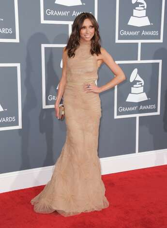 Giuliana Rancic arrives at the 55th annual Grammy Awards on Sunday, Feb. 10, 2013, in Los Angeles.  (Photo by Jordan Strauss/Invision/AP) Photo: Jordan Strauss, Associated Press / Invision