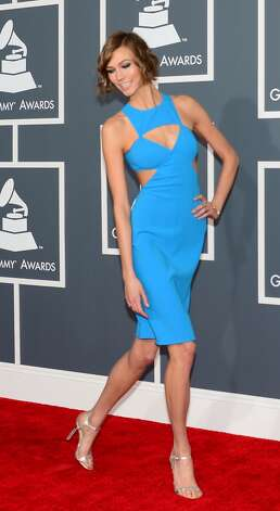 Karlie Kloss arrives at the Staples Center for the 55th Grammy Awards in Los Angeles, California, February 10, 2013. AFP PHOTO Frederic J. BROWN Photo: FREDERIC J. BROWN, AFP/Getty Images / AFP