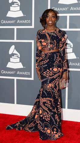 Nominee for Best R&B Performance Estelle arrives on the red carpet at the Staples Center for the 55th Grammy Awards in Los Angeles, California, February 10, 2013. AFP PHOTO Frederic J. BROWN Photo: FREDERIC J. BROWN, AFP/Getty Images / AFP