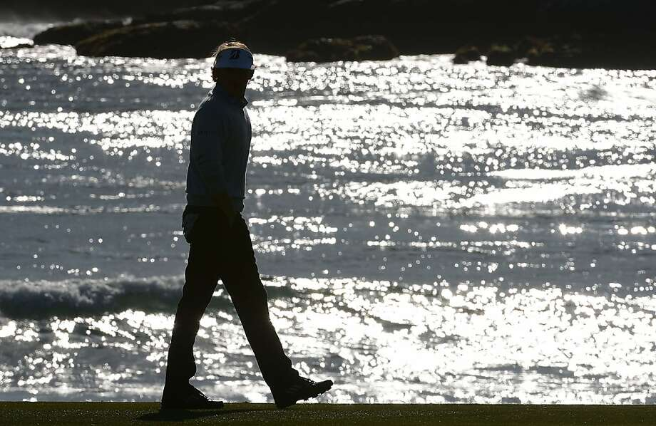Brandt Snedeker walks on the 18th hole during the final round of the AT&T Pebble Beach National Pro-Am at Pebble Beach Golf Links on February 10, 2013 in Pebble Beach, California. Photo: Harry How, Getty Images