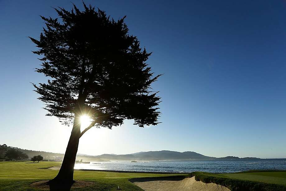 A general view of the 18th hole during the final round of the AT&T Pebble Beach National Pro-Am at Pebble Beach Golf Links on February 10, 2013 in Pebble Beach, California. Photo: Ezra Shaw, Getty Images