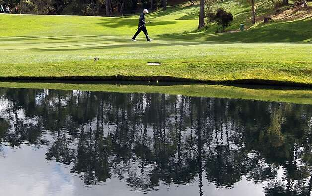 Russell Knox walks down the 14th fairway at Spyglass Hill Golf Course during the second round of the AT&T Pebble Beach Pro-Am golf tournament on Friday, Feb. 8th, 2013, in Pebble Beach, Calif. Photo: Michael Macor & Lance Iversen, The Chronicle