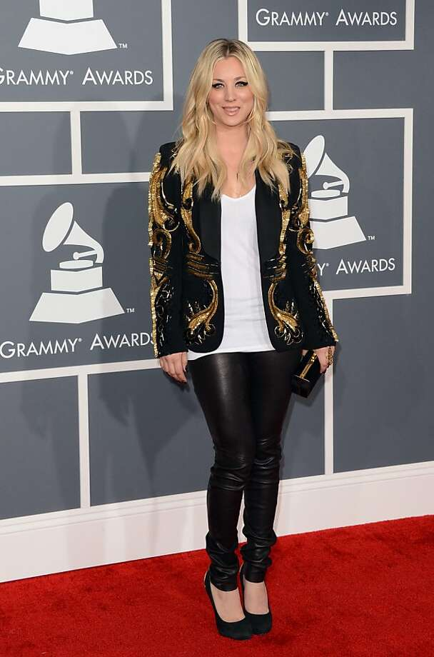 LOS ANGELES, CA - FEBRUARY 10:  Actress Kaley Cuoco arrives at the 55th Annual GRAMMY Awards at Staples Center on February 10, 2013 in Los Angeles, California.  (Photo by Jason Merritt/Getty Images) Photo: Jason Merritt, Getty Images