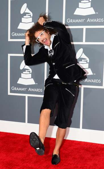 Red Foo, nominee for Best Pop Duo/Group Performance by LMFAO, arrives on the red carpet at the Stapl