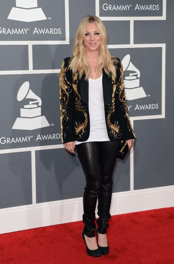 LOS ANGELES, CA - FEBRUARY 10:  Actress Kaley Cuoco arrives at the 55th Annual GRAMMY Awards at Staples Center on February 10, 2013 in Los Angeles, California. Photo: Jason Merritt, Getty Images / 2013 Getty Images