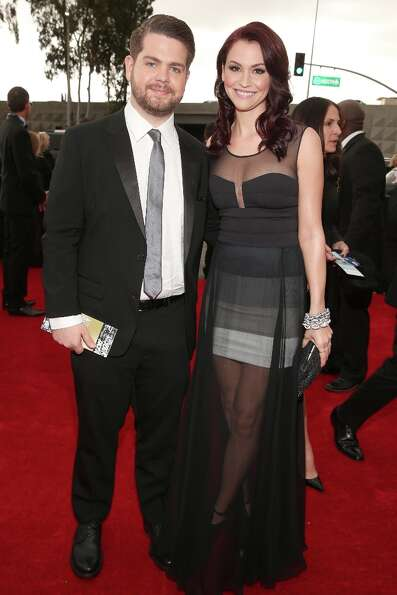 TV personality Jack Osbourne (L) and Lisa Stelly attends the 55th Annual GRAMMY Awards at STAPLES Ce