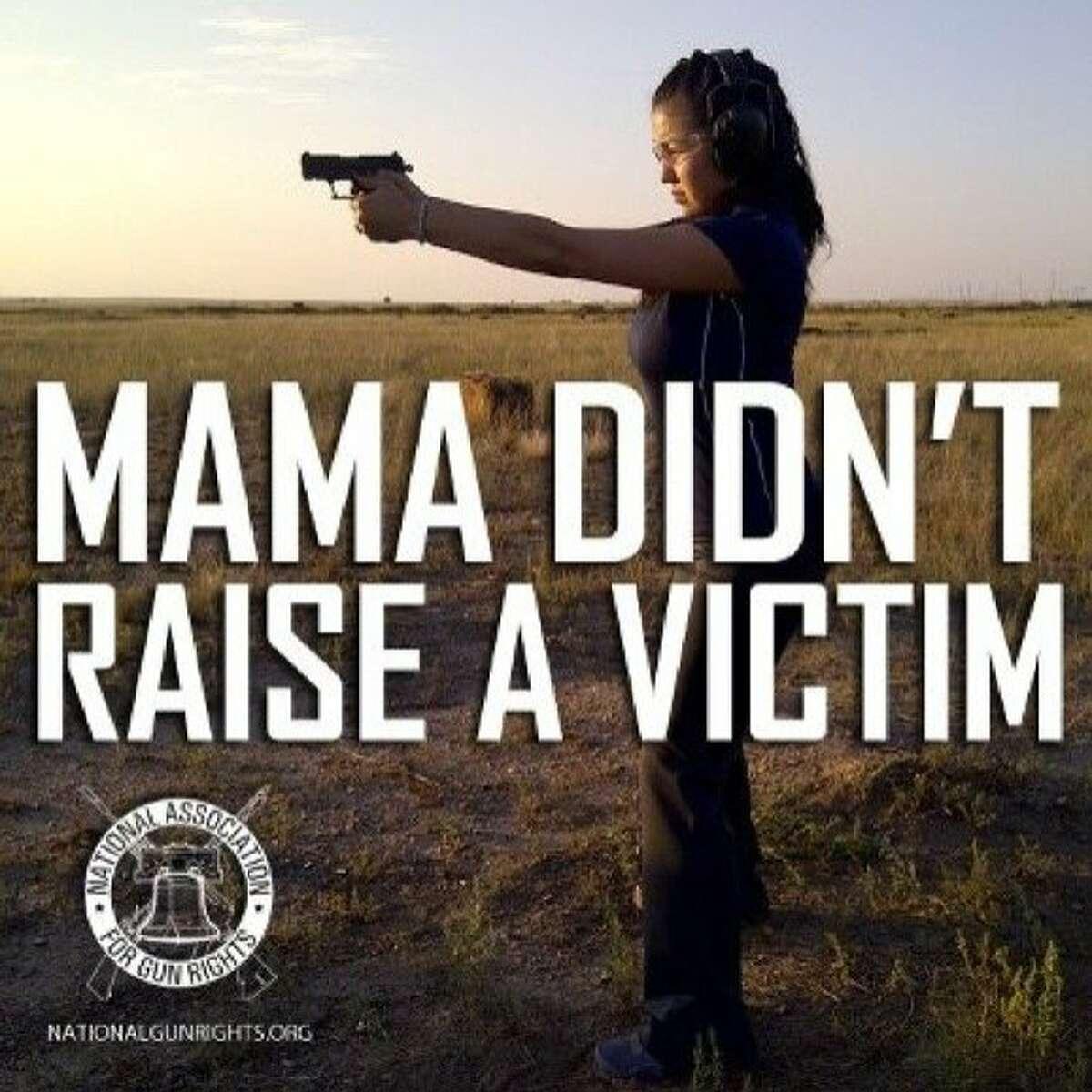A National Association for Gun Rights advertisement.