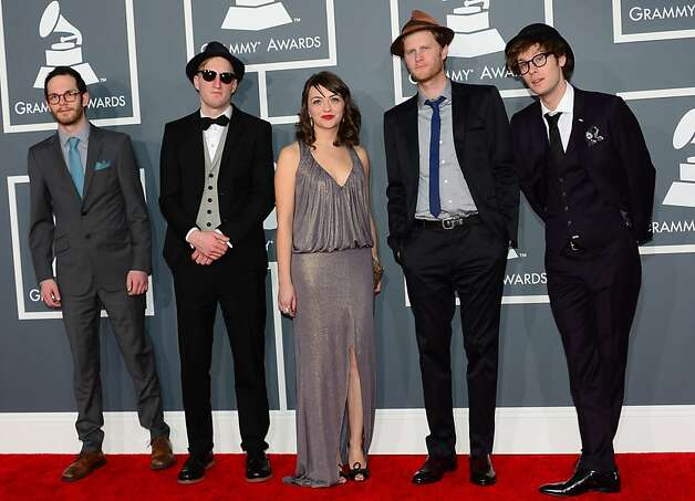 Nominees for Best New Artist and Best Americana Album The Lumineers arrive on the red carpet at the Staples Center for the 55th Grammy Awards in Los Angeles, California, February 10, 2013. AFP PHOTO Frederic J. BROWNFREDERIC J. BROWN/AFP/Getty Images Photo: Frederic J. Brown, AFP/Getty Images