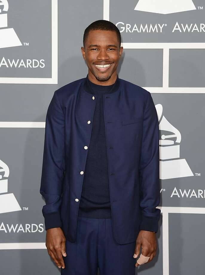 Singer Frank Ocean arrives at the 55th Annual GRAMMY Awards at Staples Center on February 10, 2013 in Los Angeles, California.  (Photo by Jason Merritt/Getty Images) Photo: Jason Merritt, Getty Images