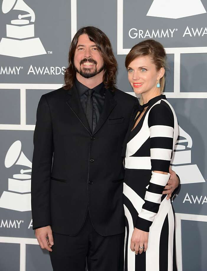 LOS ANGELES, CA - FEBRUARY 10:  Musician Dave Grohl and wife Jordyn Blum arrive at the 55th Annual GRAMMY Awards at Staples Center on February 10, 2013 in Los Angeles, California.  (Photo by Jason Merritt/Getty Images) Photo: Jason Merritt, Getty Images