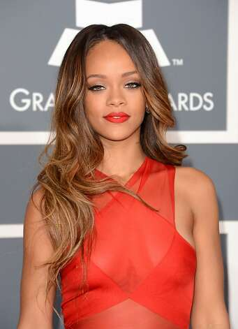 Singer Rihanna arrives at the 55th Annual GRAMMY Awards at Staples Center on February 10, 2013 in Los Angeles, California.  (Photo by Jason Merritt/Getty Images) Photo: Jason Merritt, Getty Images