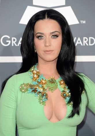 Worst: Katy Perry is a stalk of celery with garnish and a freaky non-vegetable cleavage. Photo: Jason Merritt, Getty Images / 2013 Getty Images