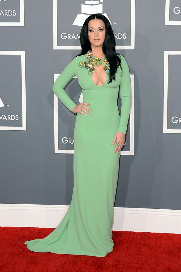 LOS ANGELES, CA - FEBRUARY 10:  Singer Katy Perry arrives at the 55th Annual GRAMMY Awards at Staples Center on February 10, 2013 in Los Angeles, California.  (Photo by Jason Merritt/Getty Images) Photo: Jason Merritt, Getty Images