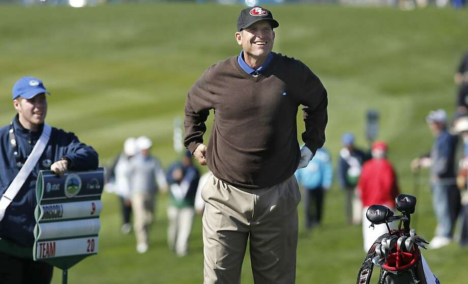From playing at Pebble Beach to driving the Indy 500 pace car, you never know where 49ers coach Jim Harbaugh will turn up next - but we have a few ideas of where to watch for him. Photo: Michael Macor, The Chronicle