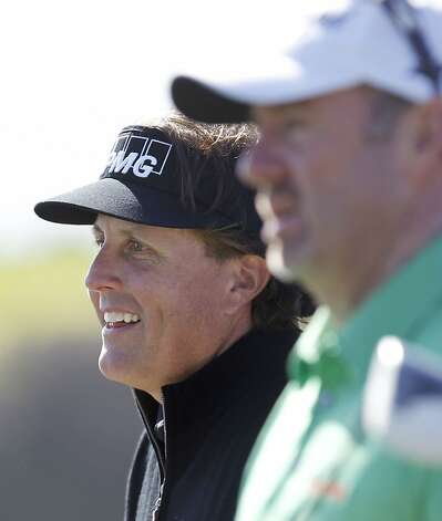 After outdueling Tiger Woods here a year ago and winning last week, Phil Mickelson tied for 60th. Photo: Michael Macor, The Chronicle