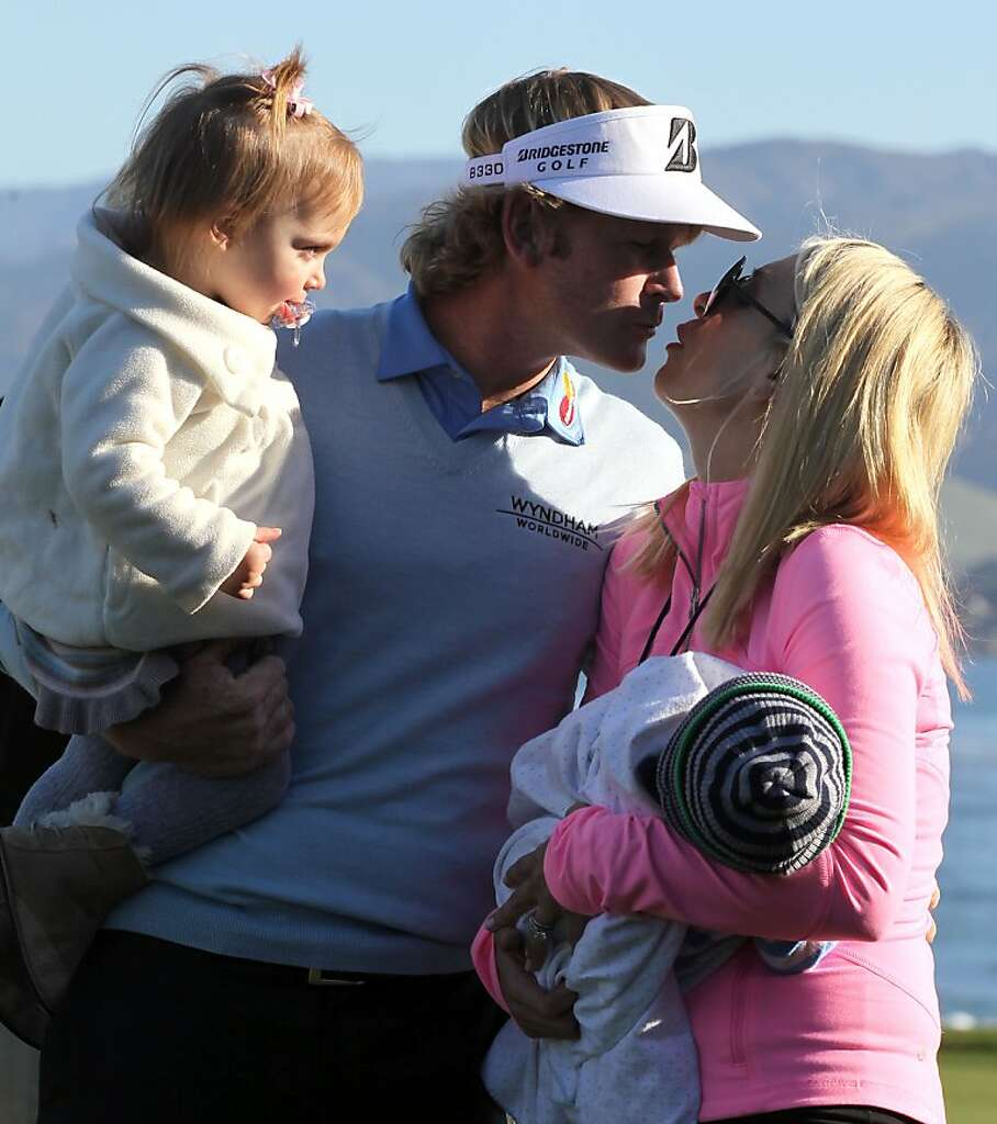 brandt snedeker wins at pebble beach sfgate brandt snedeker winner of the at amp t pebble beach national pro am at pebble