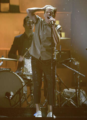 Singer Nate Ruess of fun. performs onstage at the 55th Annual GRAMMY Awards at Staples Center on February 10, 2013 in Los Angeles, California. Photo: Kevork Djansezian, Getty Images / 2013 Getty Images