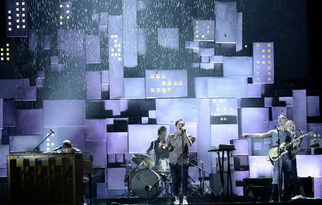 Musical group fun. perform onstage at the 55th Annual GRAMMY Awards at Staples Center on February 10, 2013 in Los Angeles, California. Photo: Kevork Djansezian, Getty Images / 2013 Getty Images