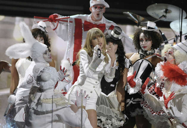 Taylor Swift performs on stage at the 55th annual Grammy Awards on Sunday, Feb. 10, 2013, in Los Angeles. Photo: John Shearer, Associated Press / Invision