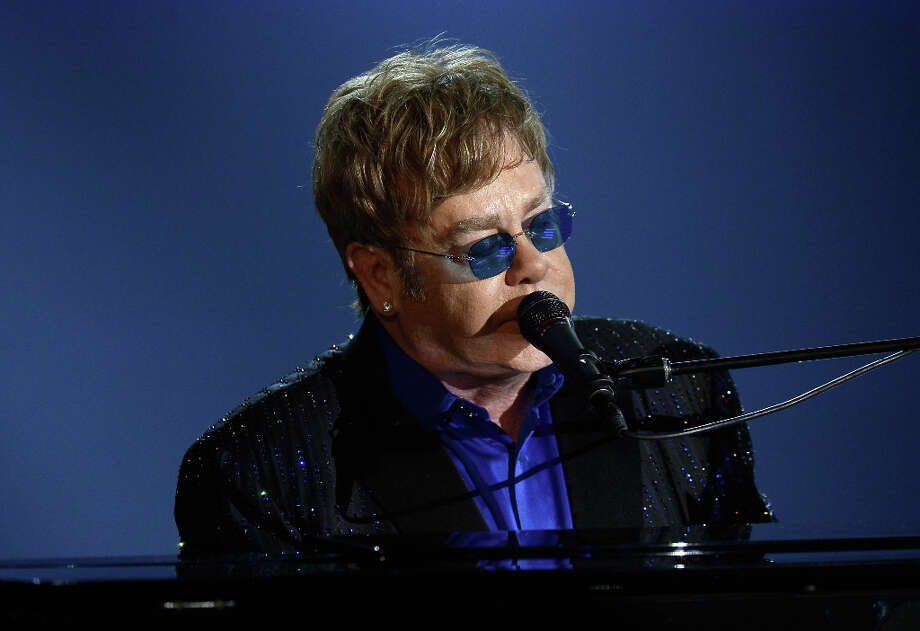Musician Sir Elton John performs onstage at the 55th Annual GRAMMY Awards at Staples Center on February 10, 2013 in Los Angeles, California. Photo: Kevork Djansezian, Getty Images / 2013 Getty Images