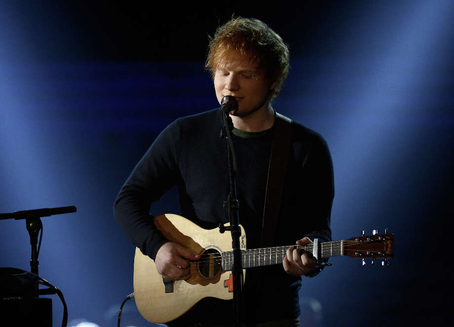Musician Ed Sheeran performs onstage at the 55th Annual GRAMMY Awards at Staples Center on February 10, 2013 in Los Angeles, California. Photo: Kevork Djansezian, Getty Images / 2013 Getty Images