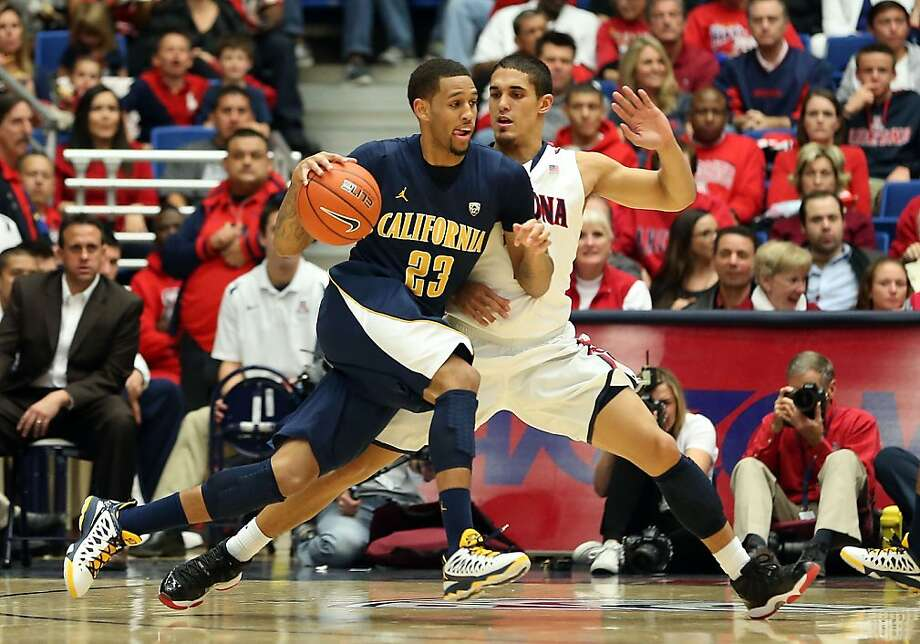 TUCSON, AZ - FEBRUARY 10:  Allen Crabbe #23 of the California Golden Bears drives the ball against Nick Johnson #13 of the Arizona Wildcats during the college basketball game at McKale Center on February 10, 2013 in Tucson, Arizona.  (Photo by Christian Petersen/Getty Images) Photo: Christian Petersen, Getty Images