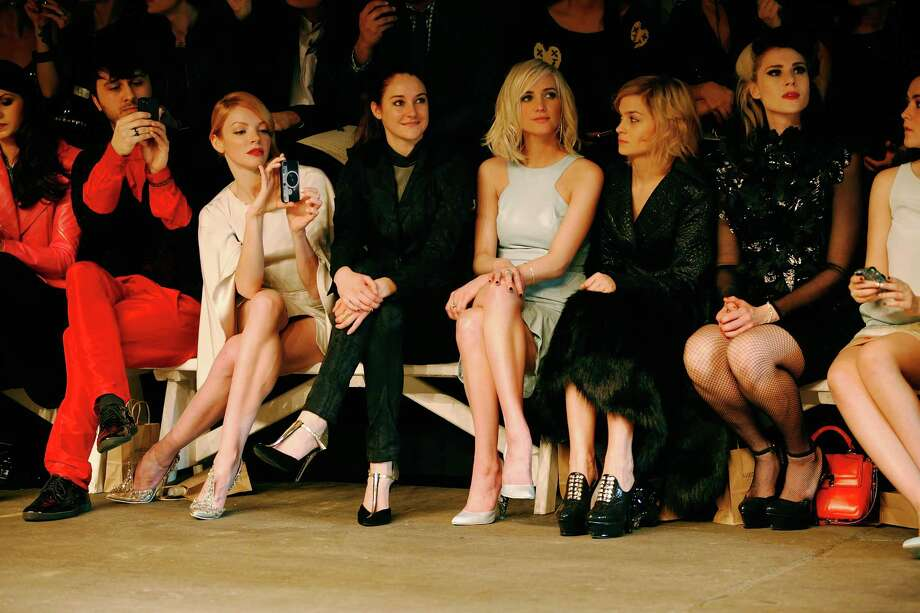 Nicole LaLiberte, Shailene Woodley, Ashlee Simpson, Leigh Lezark, Kate Nash, Lydia Hearst and Isabelle Fuhrman attend the Christian Siriano Fall 2013 fashion show during Mercedes-Benz Fashion Week on February 9, 2013 in New York City.  (Photo by Joe Kohen/Getty Images) Photo: Joe Kohen, Stringer / 2013 Getty Images