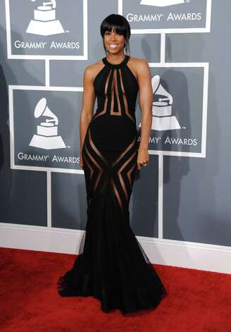 Kelly Rowland arrives at the 55th annual Grammy Awards on Sunday, Feb. 10, 2013, in Los Angeles.  (Photo by Jordan Strauss/Invision/AP) Photo: Jordan Strauss, Associated Press / Invision