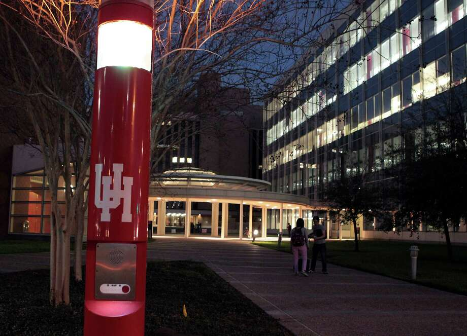 Emergency call boxes dot the University of Houston main campus, and more are being added. Photo: James Nielsen, Staff / © Houston Chronicle 2013