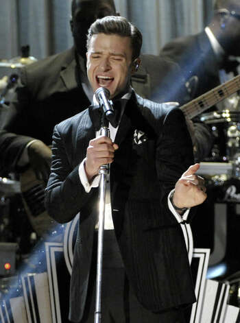 Justin Timberlake performs on stage at the 55th annual Grammy Awards on Sunday, Feb. 10, 2013, in Los Angeles. Photo: John Shearer, Associated Press / Invision