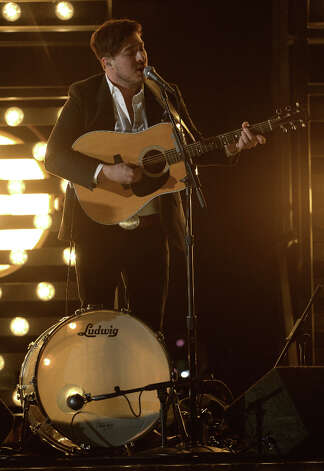 Musician Marcus Mumford of Mumford & Sons performs onstage at the 55th Annual GRAMMY Awards at Staples Center on February 10, 2013 in Los Angeles, California. Photo: Kevork Djansezian, Getty Images / 2013 Getty Images