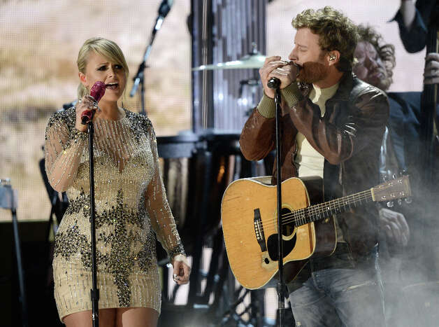 Singers Miranda Lambert (L) and Dierks Bentley perform onstage at the 55th Annual GRAMMY Awards at Staples Center on February 10, 2013 in Los Angeles, California. Photo: Kevork Djansezian, Getty Images / 2013 Getty Images