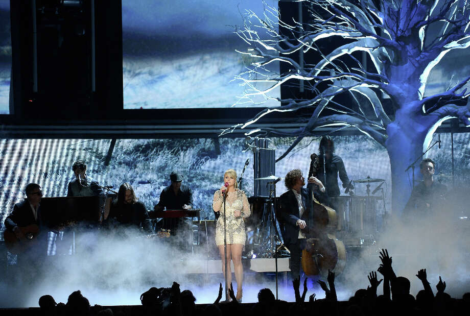 Singer Miranda Lambert performs onstage at the 55th Annual GRAMMY Awards at Staples Center on February 10, 2013 in Los Angeles, California. Photo: Kevork Djansezian, Getty Images / 2013 Getty Images