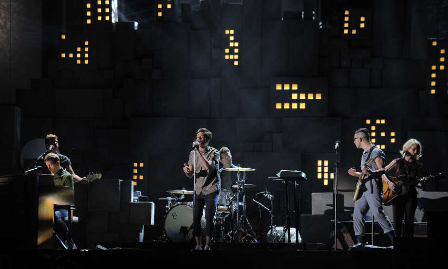 Fun performs at the Staples Center during the 55th Grammy Awards in Los Angeles, California, February 10, 2013. Photo: JOE KLAMAR, AFP/Getty Images / AFP