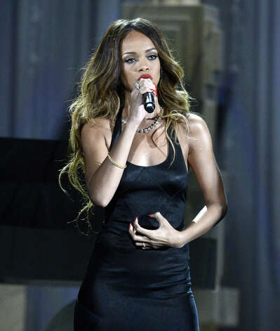 Singer Rihanna performs onstage at the 55th Annual GRAMMY Awards at Staples Center on February 10, 2013 in Los Angeles, California. Photo: Kevork Djansezian, Getty Images / 2013 Getty Images