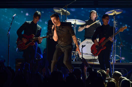 Maroon 5 perform on stage of the Staples Center during the 55th Grammy Awards in Los Angeles, California, February 10, 2013. Photo: JOE KLAMAR, AFP/Getty Images / AFP