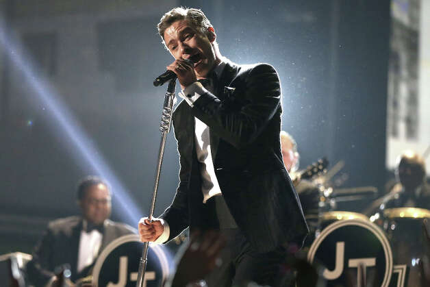 Singer Justin Timberlake performs onstage during the 55th Annual GRAMMY Awards at STAPLES Center on February 10, 2013 in Los Angeles, California. Photo: Christopher Polk, Getty Images For NARAS / 2013 Getty Images