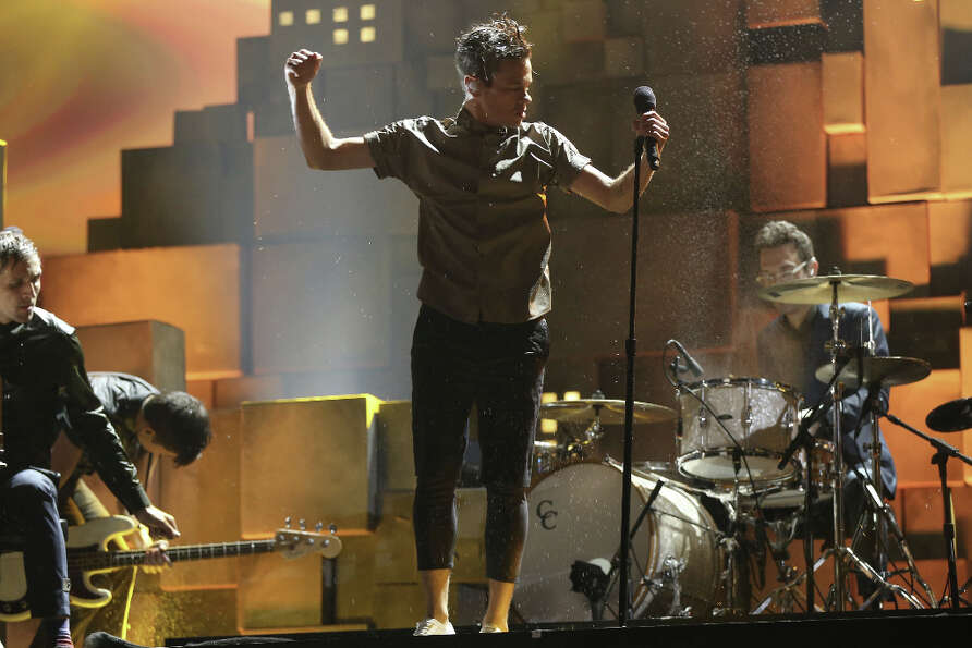 Singer Nate Ruess performs onstage during the 55th Annual GRAMMY Awards at STAPLES Center on Februar