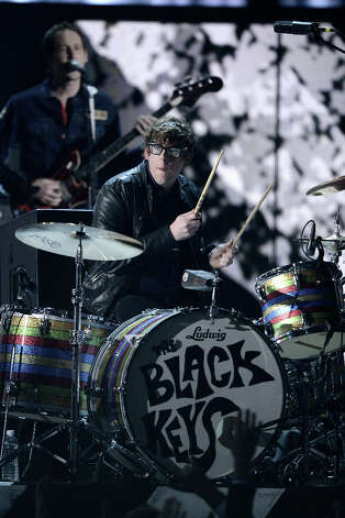 Musician Patrick Carney of the Black Keys performs onstage at the 55th Annual GRAMMY Awards at Staples Center on February 10, 2013 in Los Angeles, California. Photo: Kevork Djansezian, Getty Images / 2013 Getty Images