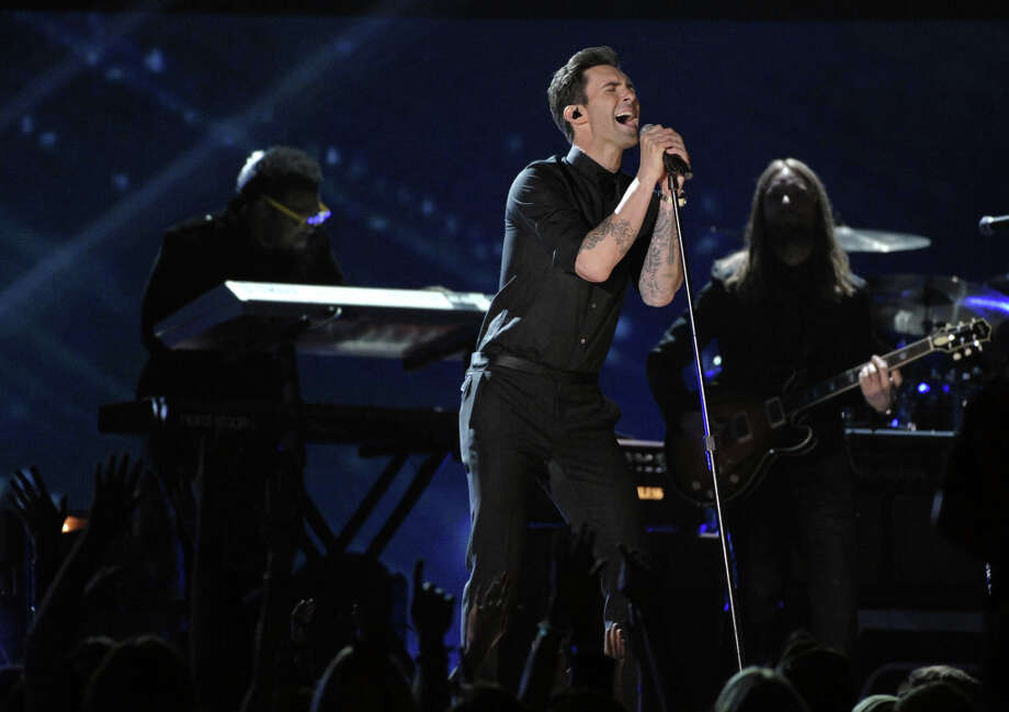 Recording artist Adam Levin of Maroon 5 performs at the 55th annual Grammy Awards on Sunday, Feb. 10, 2013, in Los Angeles. Photo: John Shearer, Associated Press / Invision