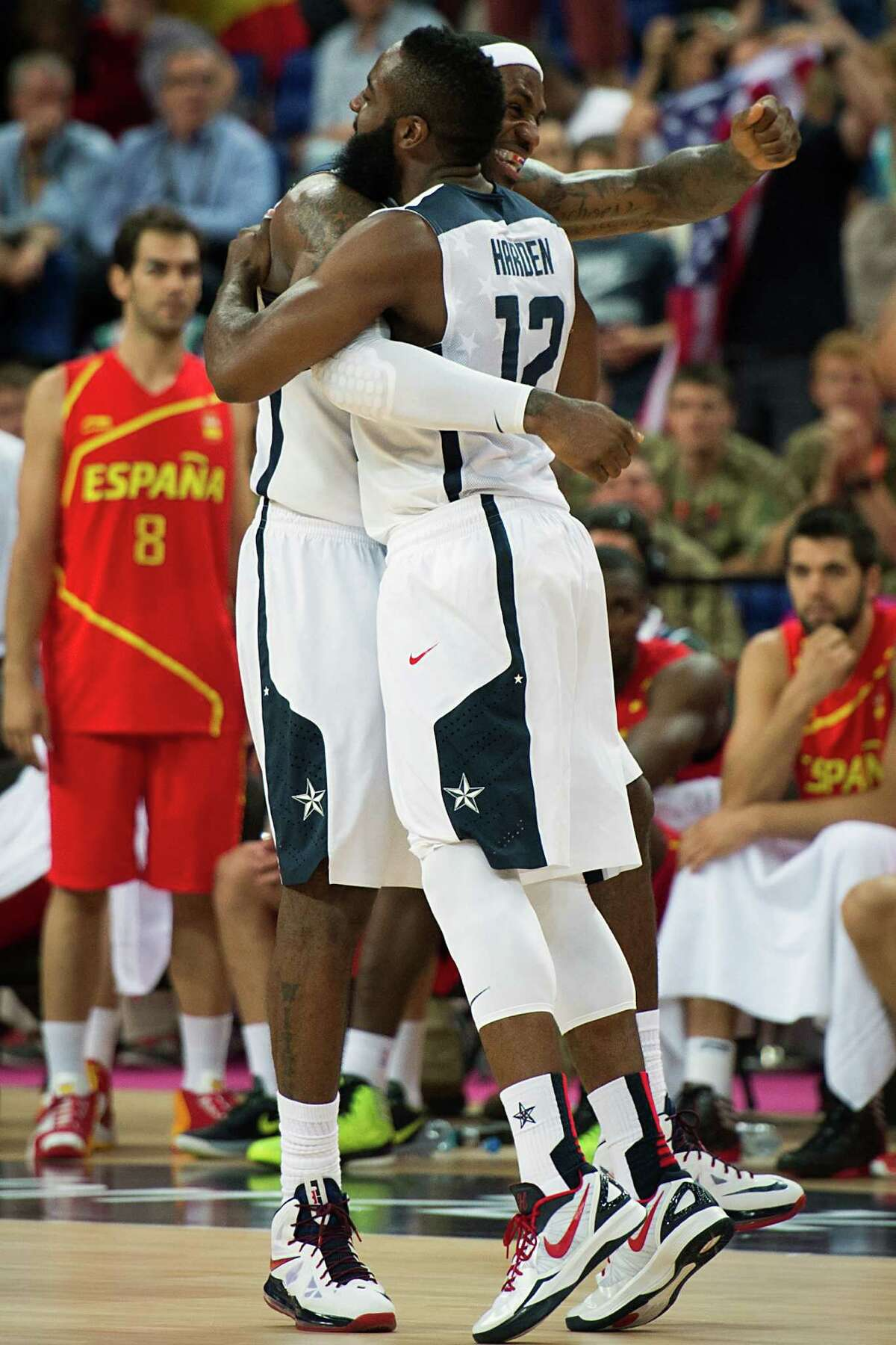 Expect the continued use of NBA players - like the Heat's LeBron James, left, and the Rockets' James Harden -in the Olympics.