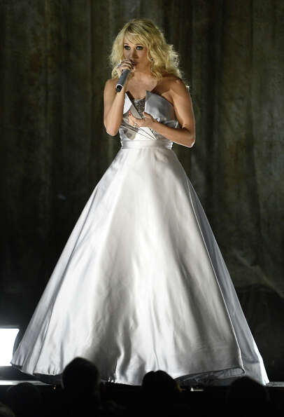 Singer Carrie Underwood performs onstage at the 55th Annual GRAMMY Awards at Staples Center on Febru