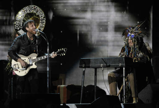 Dan Auerbach, left, of The Black Keys perform on stage at the 55th annual Grammy Awards on Sunday, Feb. 10, 2013, in Los Angeles. Photo: John Shearer, Associated Press / Invision