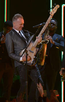 Sting performs on stage at the Staples Center during the 55th Grammy Awards in Los Angeles, California, February 10, 2013. Photo: JOE KLAMAR, AFP/Getty Images / AFP