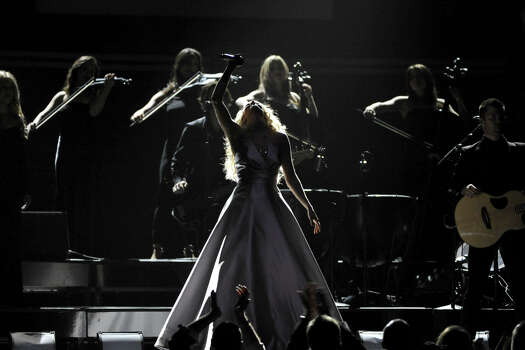 Carrie Underwood performs on stage at the 55th annual Grammy Awards on Sunday, Feb. 10, 2013, in Los Angeles. Photo: John Shearer, Associated Press / Invision