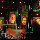 """Bruno Mars, Sting and Rihanna Pay Tribute to Bob Marley: We were dreading the idea of a Bob Marley tribute by Bruno Mars, Sting and Rihanna. Why now? Why them? But Mars set the tone with an electrifying version of his hit """"Locked Out of Heaven,"""" that had everyone from Adele to Neil Patrick Harris singing along. Things got better Sting emerged for a run through the Police's """"Walking On The Moon"""" and then Rihanna, Ziggy and Damian Marley joined together for """"Could You Be Loved."""""""