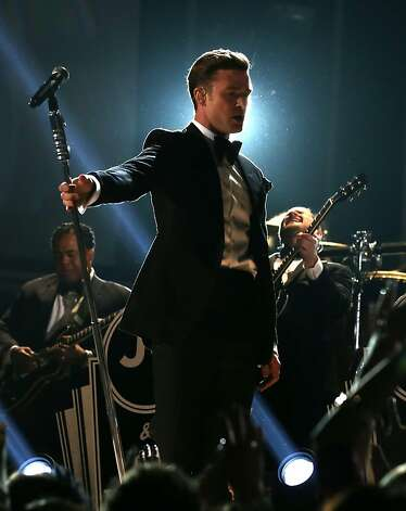 Singer Justin Timberlake onstage during the 55th Annual GRAMMY Awards at STAPLES Center on February 10, 2013 in Los Angeles, California. Photo: Christopher Polk, Getty Images For NARAS