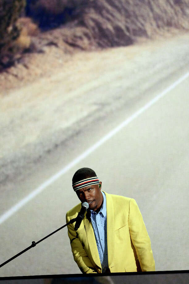 Singer Frank Ocean performs onstage at the 55th Annual GRAMMY Awards at Staples Center on February 10, 2013 in Los Angeles, California. Photo: Kevork Djansezian, Getty Images / 2013 Getty Images