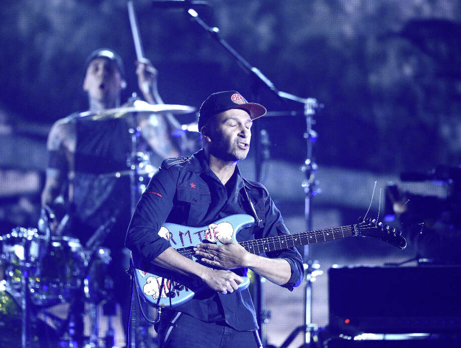 Musician Tom Morello performs onstage at the 55th Annual GRAMMY Awards at Staples Center on February 10, 2013 in Los Angeles, California. Photo: Kevork Djansezian, Getty Images / 2013 Getty Images